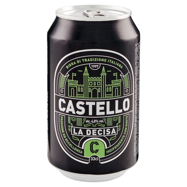 BIRRA CASTELLO LA DECISA 33CL  X 24 LATT 4.8%VOL 11.00 GP