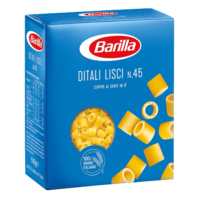 PASTA BARILLA DITALI LISCI     500GX30