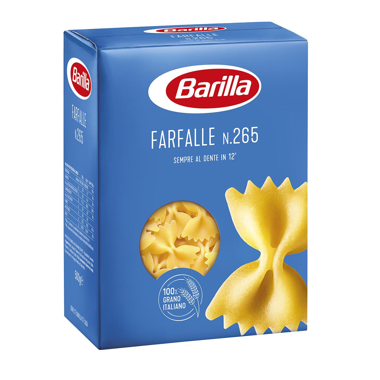 PASTA BARILLA FARFALLE 500GX12