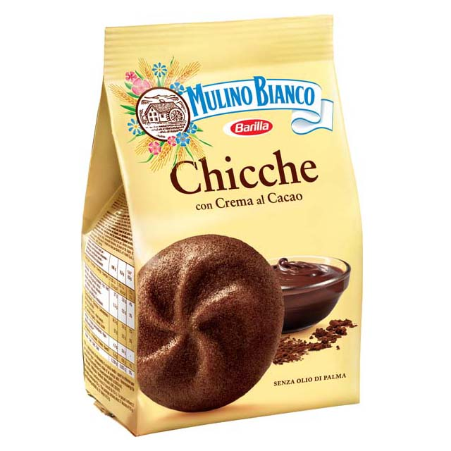 BISCUITS CHICCHE COCOA MULINO  BIANCO 200 G X10